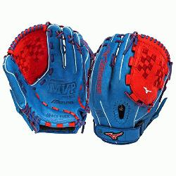 P1250PSEF3 Fastpitch Softball Glove 12.5 inch (Royal-Red, Right Hand Throw) : Pa