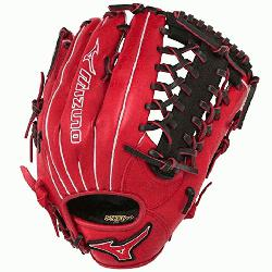 77PSE3 MVP Prime Baseball Glove 12.75 inch (Red-Black, Right Hand Th