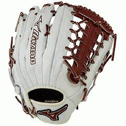MVP Prime Baseball Glove 12.75 inch (Silver-Brown, Right Hand Thro