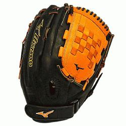 VP1300PSEF3 Fastpitch Softball Glove 13 inch (Black-Orange, Right Hand Thr