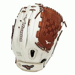 o GMVP1300PSEF3 Fastpitch Softball Glove 13 inch (Silver-Brown, Right Hand Th