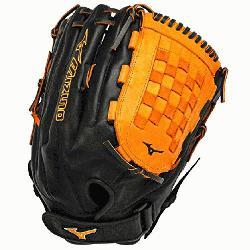 ES3 Slowpitch Softball Glove 14 inch (Black-Orange, Right Hand Th