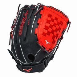 1400PSES3 Slowpitch Softball Glove 14 inch (Navy-Red, Right Hand Throw) : Patent pending Heel