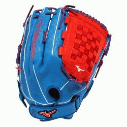 PSES3 Slowpitch Softball Glove 14 inch (Royal-Red, Right Hand Throw) : Pa