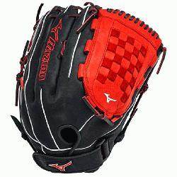 ES3 Slowpitch Softball Glove 14 inch (Royal-Red, Right Hand Throw) : Patent pendin