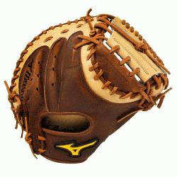 Pro Soft Catchers Mitt 33.5 inch. Throwback Leather that is rugged, rich, naturally pre-oiled leat