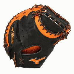 Catchers Mitt 34 inch MVP Prime (Black-Orange, Right Hand Thr