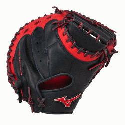 0PSE3 Catchers Mitt 34 inch MVP Prime (Navy-Red, Right Hand Throw) : Patent pending Heel