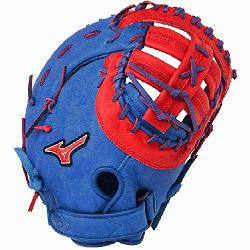 P Prime First Base Mitt 13 inch (Royal-Red, Right Hand Throw) : Paten