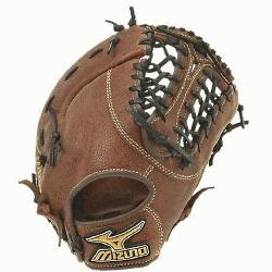 is a 13.00-Inch Pro sized first basemens mitt made from soft Bio Throwback leather and is g