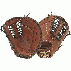 a 13.00-Inch Pro sized first basemens mitt made from soft Bio Throwback leather an