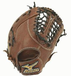 The Mizuno GXF57 is a 13.00-Inch Pro sized first basemens mitt made from soft Bio Throwback leat