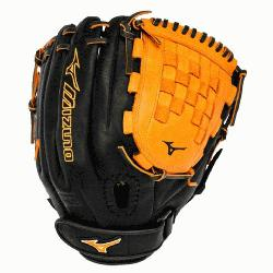 MVP Prime Fast Pitch GMVP1200PSEF3 12 inch Softball Glove (Black-Orange, Right Hand