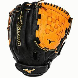 me Fast Pitch GMVP1200PSEF3 12 inch Softball Glove (Black-Orange, Ri