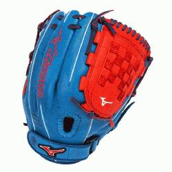 ime Fast Pitch GMVP1200PSEF3 12 inch Softball Glove (Royal-Red, Right Hand