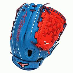 e Fast Pitch GMVP1200PSEF3 12 inch Softball Glove (Royal-Red, Righ