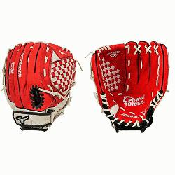 pect GPP1150Y1RD Red 11.5 Youth Baseball Glove (Right Hand Throw) : Mizun