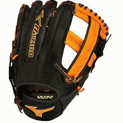 izuno Slowpitch GMVP1250PSES3 Softball Glove 12.5 inch (Black-Orange, Right Hand Throw)