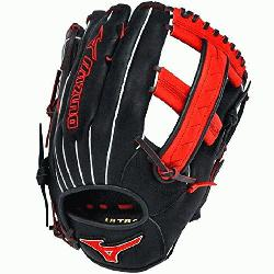 Slowpitch GMVP1250PSES3 Softball Glove 12.5 inch (Black-Orange, Right Hand Throw) : Pate