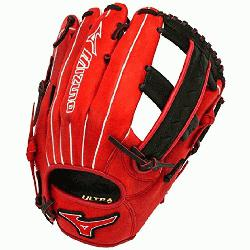 lowpitch GMVP1250PSES3 Softball Glove 12.5 inch (Red-Black, Right