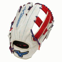 uno Slowpitch GMVP1250PSES3 Softball Glove 12.5 inch (Silver-Red-Royal, Right Hand Thr