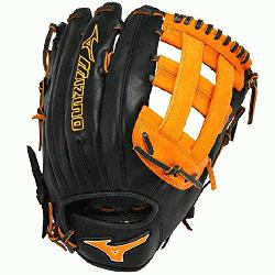 zuno Slowpitch GMVP1300PSES3 Softball Glove 13 inch (Black-Oran