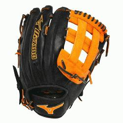 GMVP1300PSES3 Softball Glove 13 inch (Black-Orange, Ri