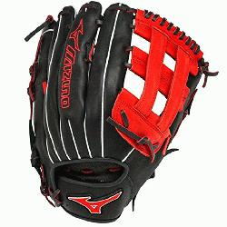 h GMVP1300PSES3 Softball Glove 13 inch (Navy-Red, Right Hand Throw) : Patent pending Heel Flex Tec
