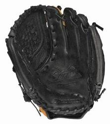 rformance, full-grain leather shell in softball specific patte