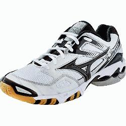 izuno Wave Bolt 3 Womens Volleyball Shoes 430170 (White-Black, 7.5) : The Mizuno Wave Bolt 3 Women