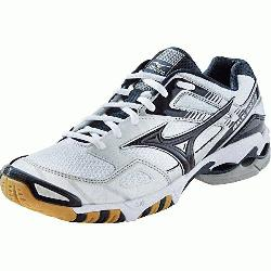 Womens Volleyball Shoes 430170 (White-Navy, 7.5) : The Mi