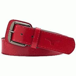 aseball belt leather. Signature Mizuno logo. Up to 3