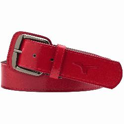 baseball belt leather. Signature Mizuno logo. Up to 31 inches. Mizuno