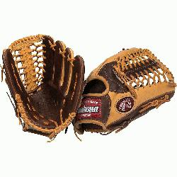 ies 12.75 inch Outfield Baseball Glove with Trap Web. 12.75 inch outfield pattern. Modified Tr