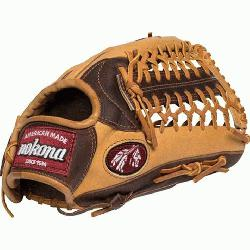 na Alpha Series 12.75 inch Outfield Baseball Glove with Trap Web. 12.7