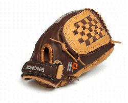 a Select Plus Baseball Glove for young adult players. 12 inch pattern, closed w
