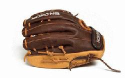 Baseball Glove for young adult players. 12 inch pattern, closed web