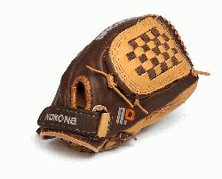 kona Select Plus Baseball Glove for young adult players. 12 inch pattern, closed web, and clos