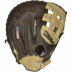 ona BB-1250H Buckaroo (SandstoneChocolate Kangaroo) First Base Mitt 12.5 (Right Handed T
