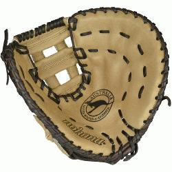 1250H Buckaroo (SandstoneChocolate Kangaroo) First Base Mitt 12.5 (Right Handed Throw) :