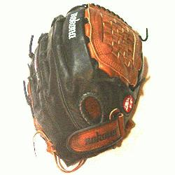 na Fastpitch Black Buckaroo Softball Glove. Closed Web and 12.