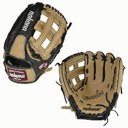 okonas top-of-the-line bloodline baseball glove is now available in a blacksandstone leather c