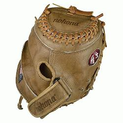 banana tan fastpitch softball catchers mitt. 32.5 inch cm225 pat