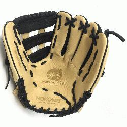 lt Glove made of American Bison and Supersoft Steerhide leather combined in black and cream