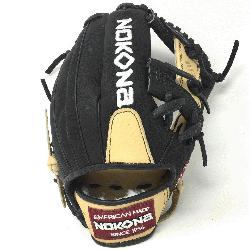 Young Adult Glove made of American Bison and Supersoft Steerhide l