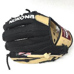 ng Adult Glove made of American Bison and Supersoft Steerhide leather combined in black