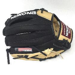 g Adult Glove made of American Bison and Supersoft Steerhide leather combined in black and cr