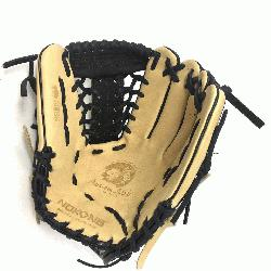 Glove made of American Bison and Supersoft Steerhide leather combined in black and c