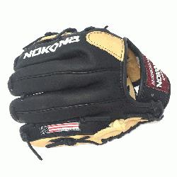 oung Adult Glove made of American Bison and Supersoft Steerhide leather combined in bl