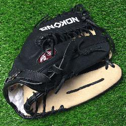 a young adult black alpha American Bison S-7MTB Baseball Glove 12.75 Trap Web./p